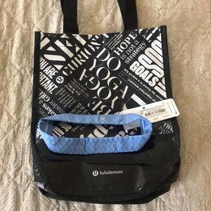 Lululemon headband and bag